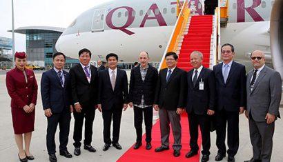 Lãnh đạo địa phương chào mừng hãng hàng không mở đường bay thẳng nối Qatar với Đà Nẵng